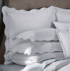 Barbara Barry Dream Peaceful Pique 100% Pure Cotton King Sham White