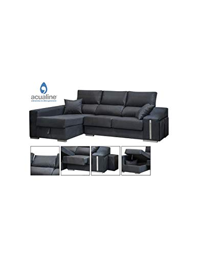 DECOR NATUR Sofa Chaiselongue Izquierda Oscar Color Gris Oscuro(Serie Oferta)