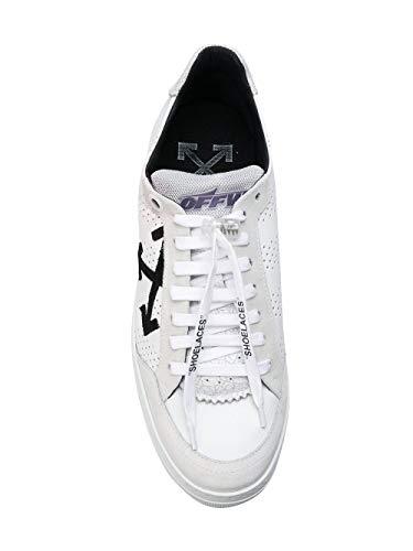 OFF Cuir Blanc Baskets OMIA086E18A430010100 Homme WHITE rYSgIr