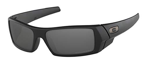 Oakley Gascan OO9014 12-856 61M Matte Black/Black Iridium Polarized Sunglasses For Men +BUNDLE with Oakley Accessory Leash Kit (Oakley Wrap-around-gläser)