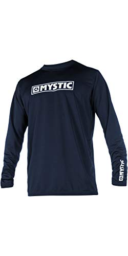 Mystic Star Long Sleeve Loosefit Quick Dry Rash Vest Navy 180106 Size - M
