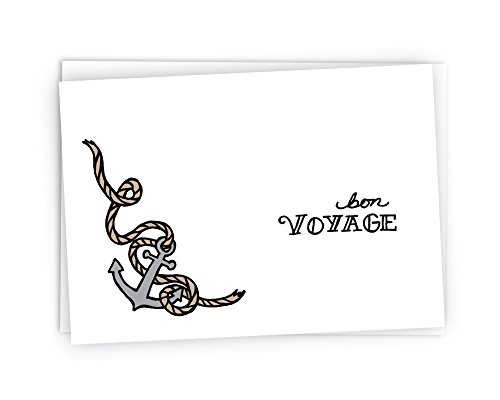 Anchors Aweigh Bon Voyage Going Away Cards - 24 Cards & Envelopes