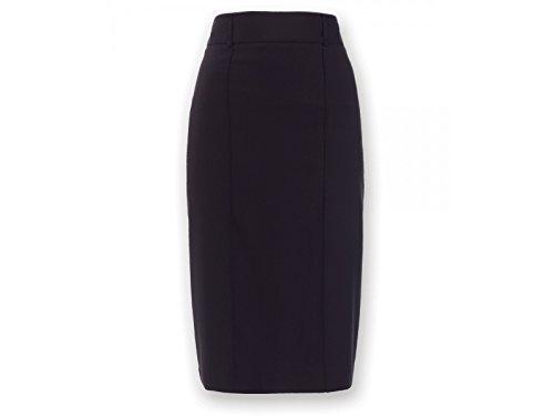 Alexandra Icona stc-nf14na-12r gerade Rock, Uni, 77% Polyester/21% Viskose/2% Elasthan, Regular, Größe 12, Marineblau