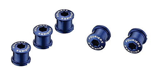Fouriers BN-M001 CNC Alloy Chainring Bolt Set 5 Pair, 5mm or T30 (Blue)