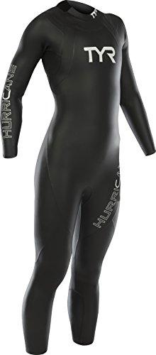 TYR Women's Hurricane Wetsuit Category 1, Black/White, -