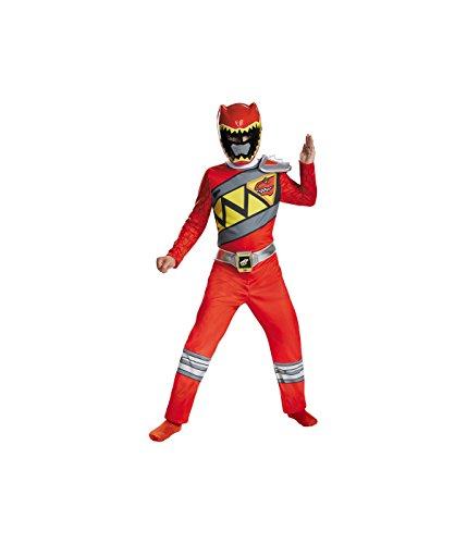 Dino Power Ranger Costume (Big Boys' Dino Charge Power Rangers Red Ranger big Costume - Medium (7-8))