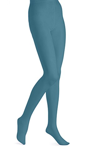 EMEM Apparel Women's Ladies Plus Size Queen Opaque Footed Tights Fashion Hosiery Stockings Teal 3X