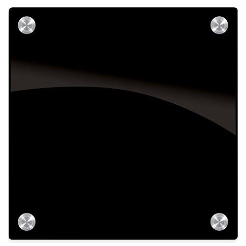 Best-Rite 84072 Enlighten Glass Dry Erase Whiteboard, Black 1/8 inch Tempered Glass, 1 x 1 Feet