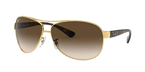 Ray-Ban Sunglasses - RB3386 / Frame: Gold Lens: Brown Gradient (63mm) (Kleine Ray Ban Sonnenbrillen)