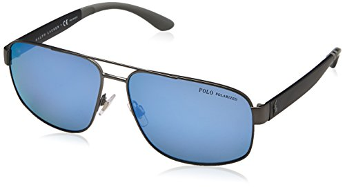 Gunmetal Ph3112 Dark Men's Polo Semishiny Blue Mirror Sunglasses Polar xH4XRqp