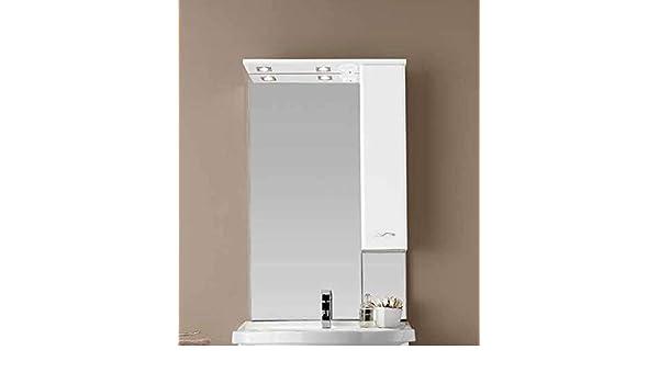 LIBEROSHOPPING.EU – Tu casa en un Clic Espejo Ivana de LED con Colgante y Puerta Blanca Brillante pequeño: Amazon.es: Hogar