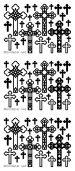 1 x Black Decorative Cross/Crosses Mix Peeloff Stickers Cardmaking, Scrapbooking Christmas, Religious 463 goldlabel