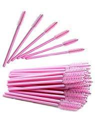 Quewel lash Disposable Eyelash Mascara Wands Brushes Cosmetic Eyelash (50PCS, Full Pink) (Pink Eyelash Comb)