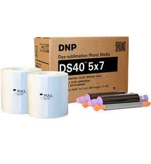 DNP DS40 5x7'' Dyesub Printer Paper, 460 Glossy Prints