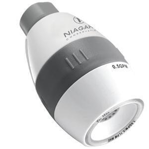 50%OFF Niagara N2615 Tri-Max 0.5/1.0/1.5 GPM Showerhead, White