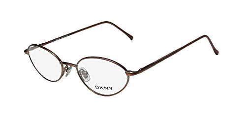 DKNY 6218 Mens/Womens Prescription Ready Casual Designer Full-rim Eyeglasses/Eye Glasses (48-18-135, Brown)