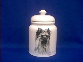 Terrier Cookie Jar - Yorkshire Terrier Cookie Jar Yorky