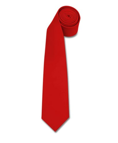 Polyester Slim Tie , Red