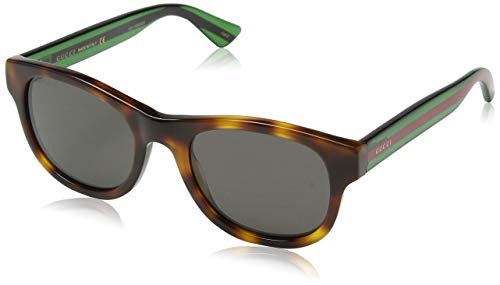 GUCCI HAVANA STRIPED GREEN/GREY - Mens Sunglasses Striped