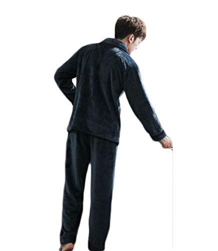 Pesante Dimensioni Pezzi Risvolto D colore H Casa Due Abbigliamento Inverno Dafrew Set Caldo Con In Uomo Pigiama S Da Pajama x6wvq0g