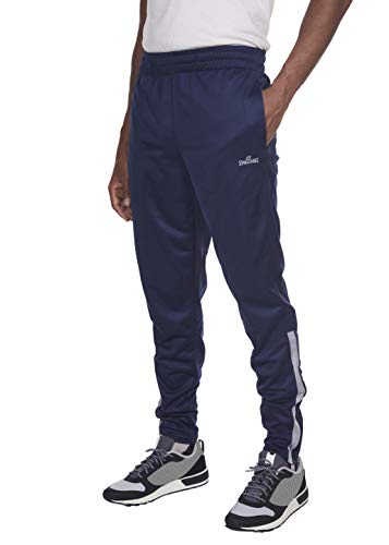 Spalding Mens Tricot Tapered Zipper Track Training Active Pants Jogger Sweatpants Dk Navy Large ()