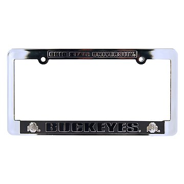Jenkins Enterprises Ohio State Buckeyes Silver & Black Auto License Frame