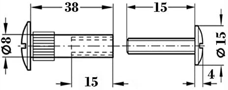 Lote de 50 tornillos de uni/ón Mprofi MT/® SO350 39-48 mm metal niquelado 8 mm M6
