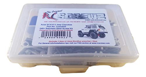 piece Stainless Steel Screw Kit FREE SHIPPING! Axial SCX10 RTR//Pro 350