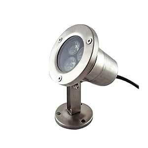 Leedfsw 3W 3 LEDs IP68 Waterproof Outdoor Warm White LED Underwater Light (DC12V)