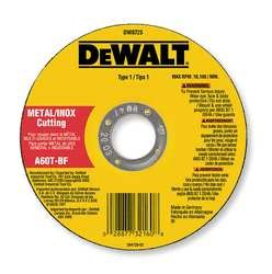 DEWALT DW8062 4-1/2 inch x .045 x 7/8 inch Metal Cut-Off Wheel (100pk)