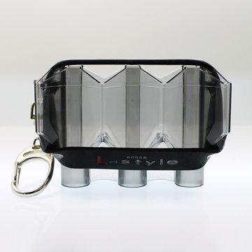 L-Style Kyrstal Flight Case Plastic with Wristband Extra Dart Flights Holder - Clear Black ()