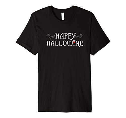 HAPPY HALLOWINE HALLOWEEN FUNNY T-SHIRT ()