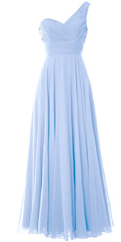 One Dress Party Shoulder Long Evening Wedding Bridesmaid Gown Women Himmelblau MACloth OxqPUfq