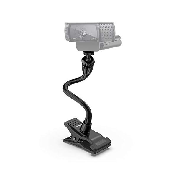 Smatree Flexible Jaws Clamp Clip Mount Holder Compatible for Logitech Webcam C925e C922x C922 C930e