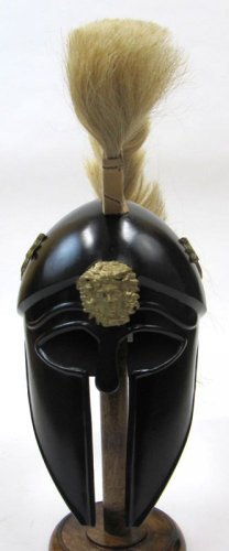 [IR80865 - Greek Dragon Armor Helmet with Tan Plume & Black Finish] (Authentic Stormtrooper Costume For Sale)