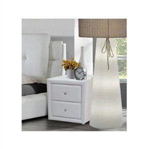 New pair of white faux leather bedside table amazon kitchen new pair of white faux leather bedside table watchthetrailerfo