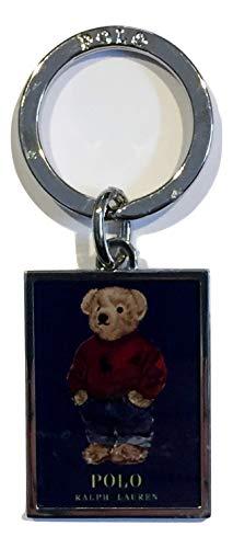 - Polo Ralph Lauren Men's Adult Teddy Bear Silver Toned Keychain Key Ring FOB