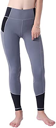 Okay Sports Women's Breathable Horse Riding Tights Knee Patch Grip Equestrian Pants Schooling Riding Bree