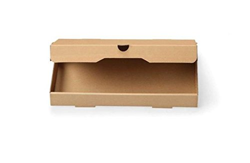 W PACKAGING WPFB14X7KE 14x7x1.5 Plain Kraft/Kraft Flatbread Pizza Box, E-Flute (Pack of 50)