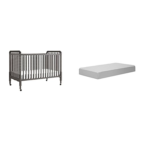 y Crib with Complete Toddler Mattress with Hypoallergenic Waterproof Cover ()
