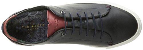 Ted Baker Mens Kiing Lthr Am Dk Blue Fashion Sneaker Blu Scuro