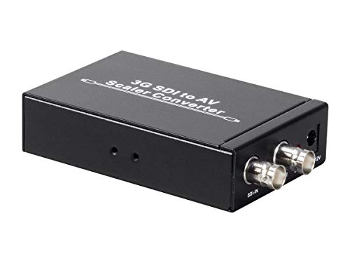 SPECIALTY-AV SD HD & 3G SDI to Composite RCA Video + L/R Analog Stereo Audio Converter Scaler (Composite Analog)