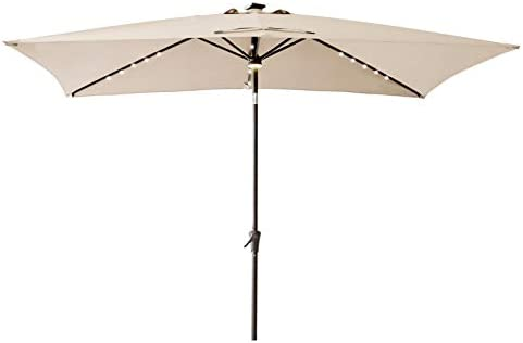 C-Hopetree Rectangular Outdoor Patio Market Umbrella