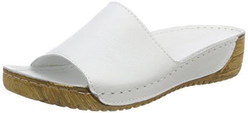 0771519 Mules Andrea Femmes Conti, Noir, Blanc 4 (001) Weiß
