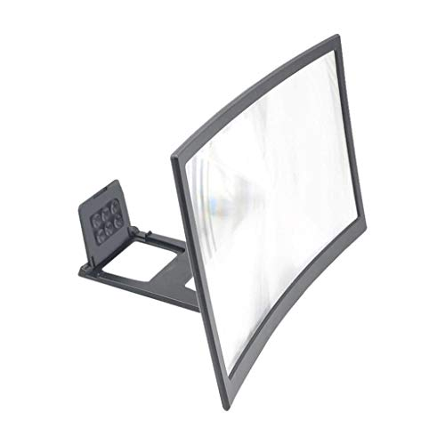 MIS1950s HD Projection 12 Inch Mobile Phone Curved Screen Magnifier Bracket Video Enlarge Stand Holder (Black)