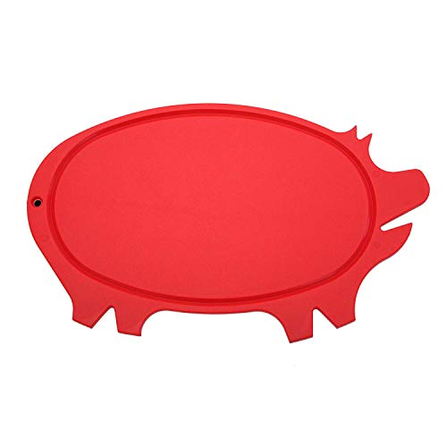 Linden Sweden Daloplast Pig Shaped Cutting Board, Red (Board Shaped Pig Cutting)