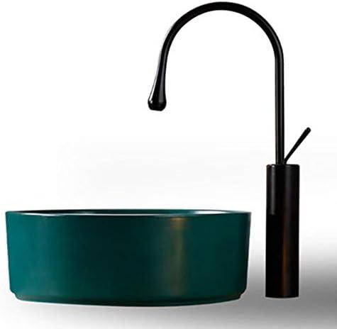 洗面ボール 北欧ダイヤモンドマットグリーンセラミックの上カウンター盆地バスルームの容器シンク用洗面所の洗面化粧台のキャビネット現代のスタイル 洗面器 (Color : Green, Size : 40.5x40.5x14.5cm)