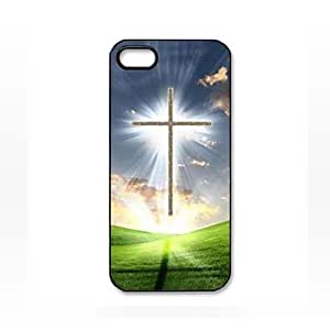 Babe Supply Cross Sky Grasses Pattern Plastic Hard Case for iPhone 5/5S