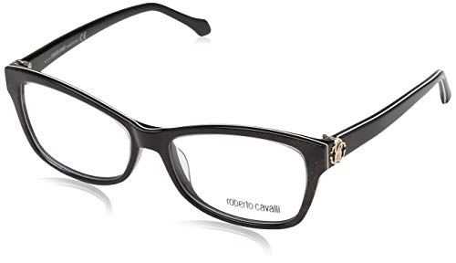 (Roberto Cavalli BADIA RC5013-005 ACETATE EYEGLASS FRAME DARK BROWN 54MM)