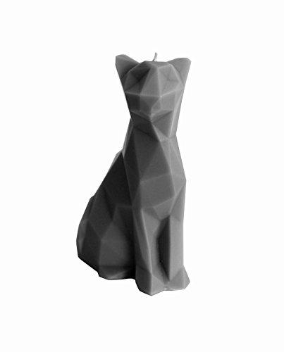 Candellana Candles Cat Poly Candle, Gray Matt, - Geometric Cat